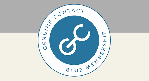 Become a Blue Member of the Genuine Contact Organization